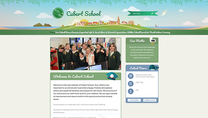 Coastal School Website design
