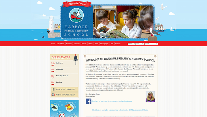 Seaside School Website Design