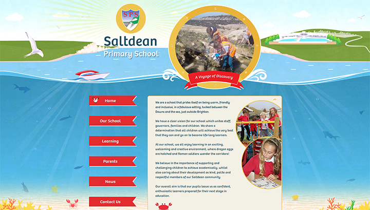 Ocean School Website Design