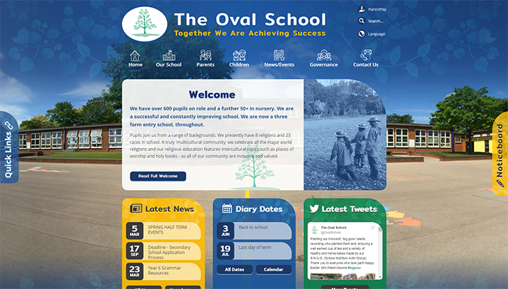 The Oval School Website Design