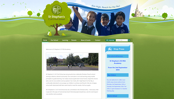 School Website Design St Stephen's