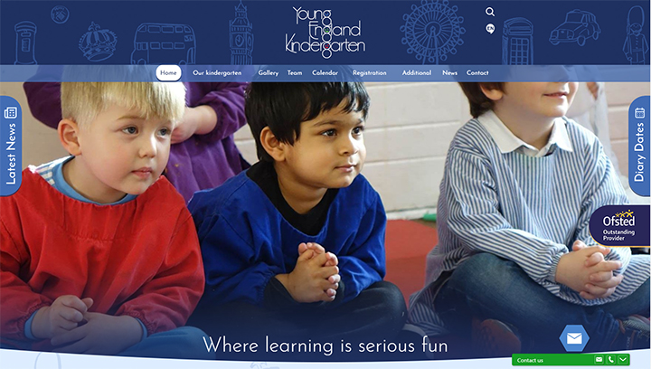 Nursery School Website Design, Westminster London