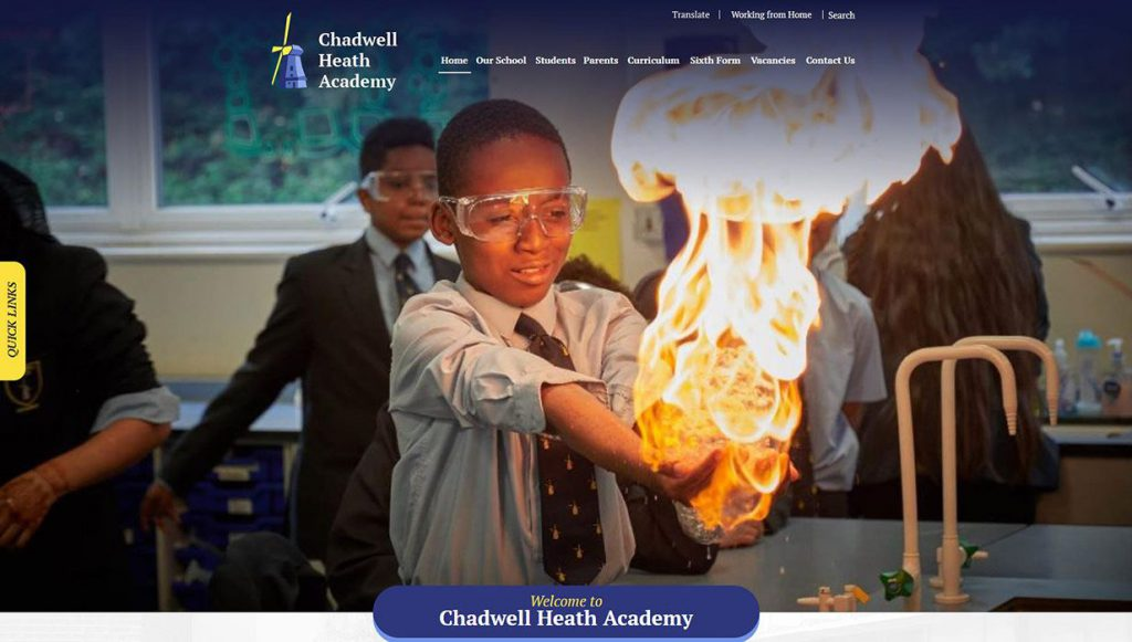 chadwell-heath-school-website-design