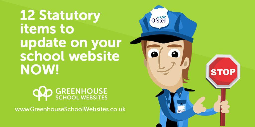 12 statutory items on your school website
