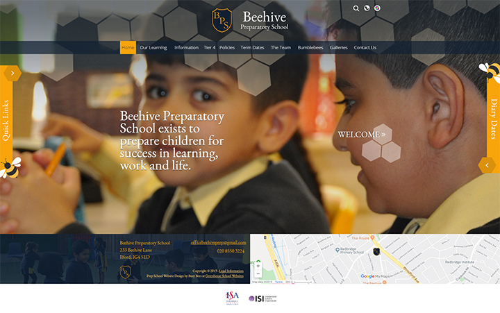 Animals School Website Design