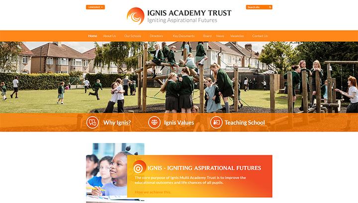 Academy Trust Website Design