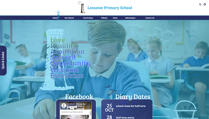 Nautical Primary School Website Design
