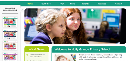 pre-designed school website template