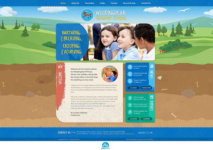 Woodingdean Animal website design