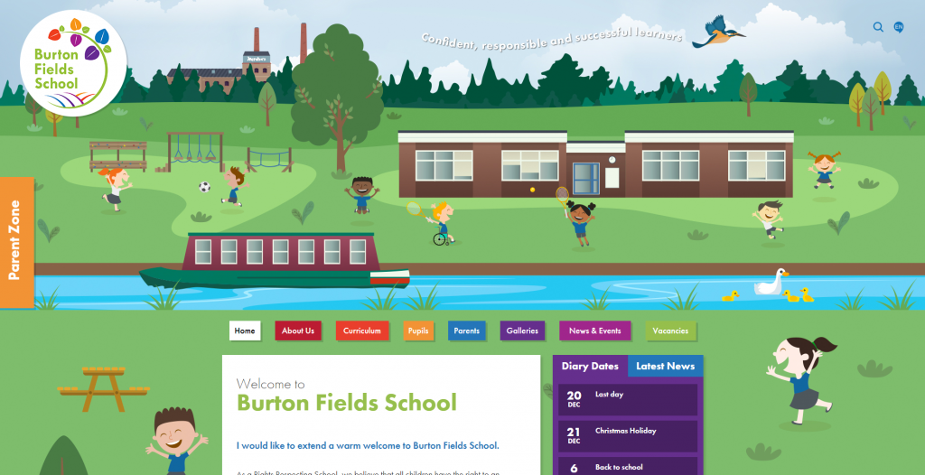 Burton Fields website illustrations