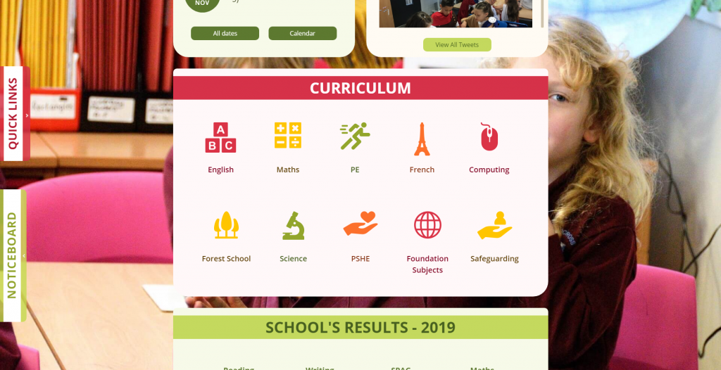 Curriculum popups