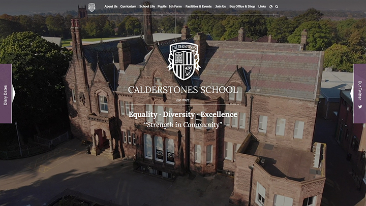 Calderstones School video homepage