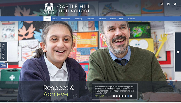 Castle Hill High School Website Design
