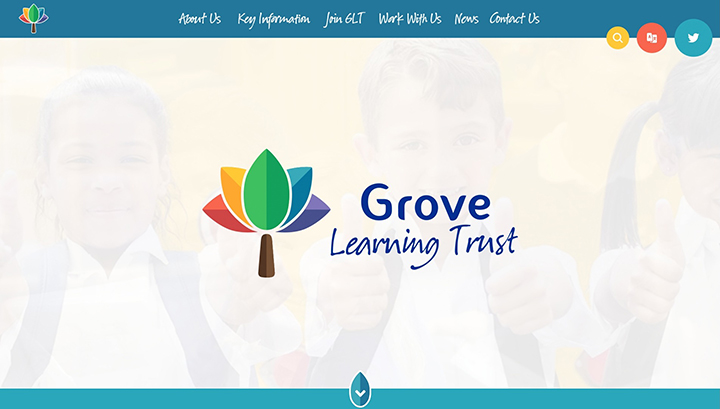 Grove Trust Rainbow Website Design