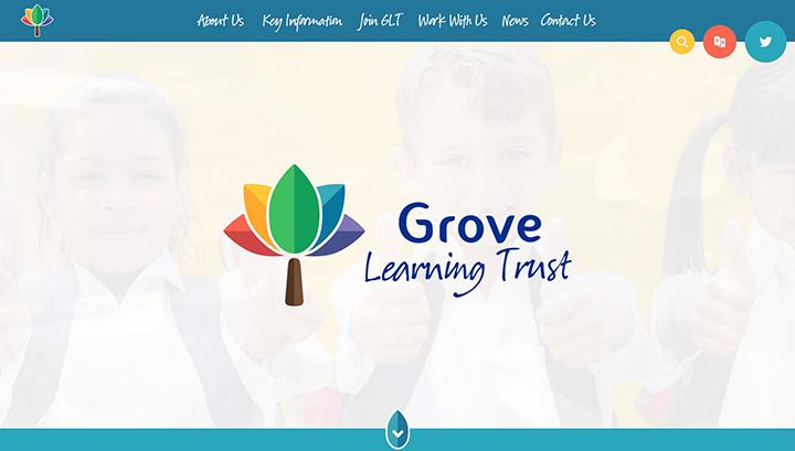 Grove Trust Rainbow Website Design