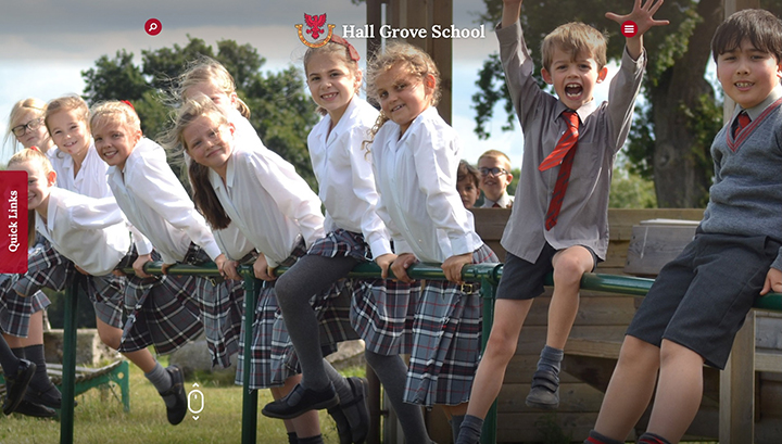Hall Grove School Website Design Surrey
