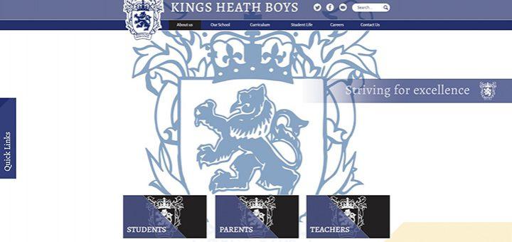 Kings Heath Birmingham School Website Design