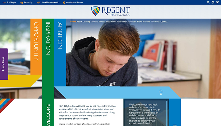 Regent High School Website Design London