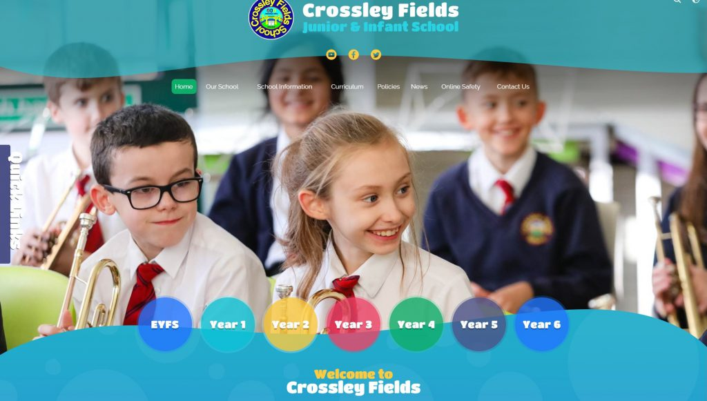 infant and junior School website design
