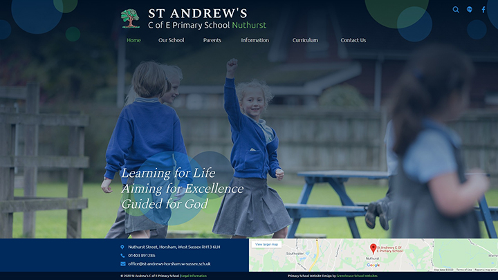 Compact school website