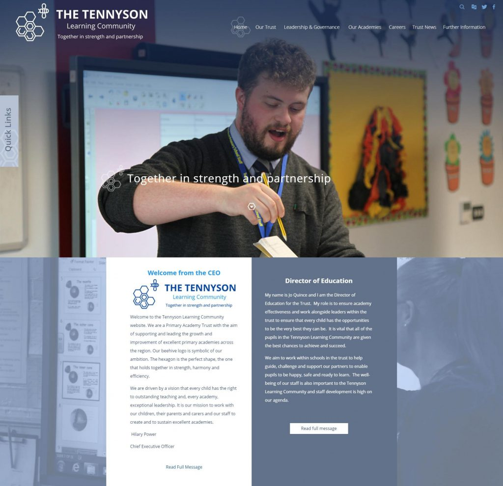 Tennyson Learning Community Website