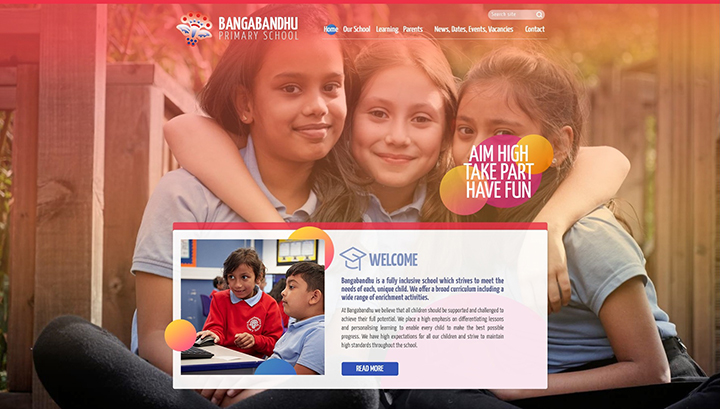 Tower Hamlets London School Website Design