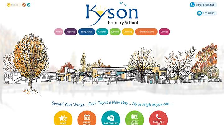 Kyson Primary School website design Suffolk