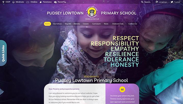 Pudsey Lowtown Primary School Website Design