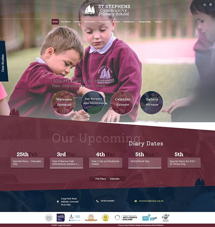 St Stephens Community Primary School website design