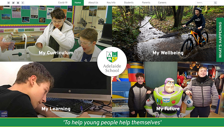 Adelaide School Website design