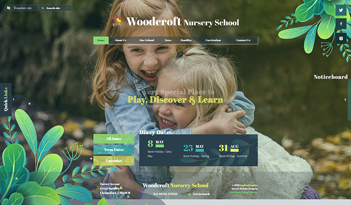 Woodcroft Nursery Website Design