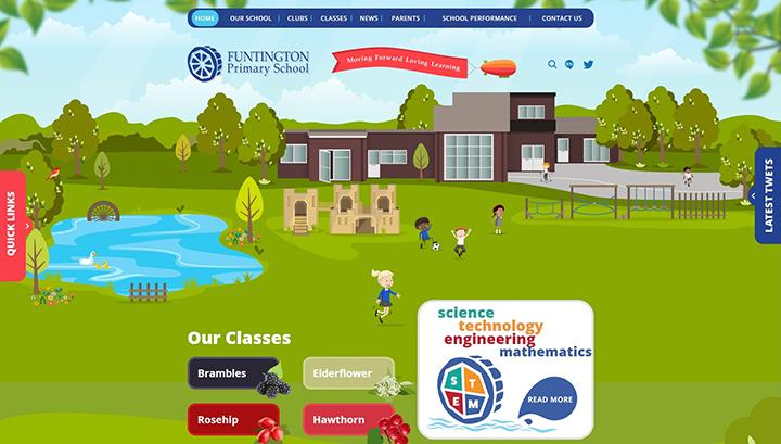 Funtington Primary School website design