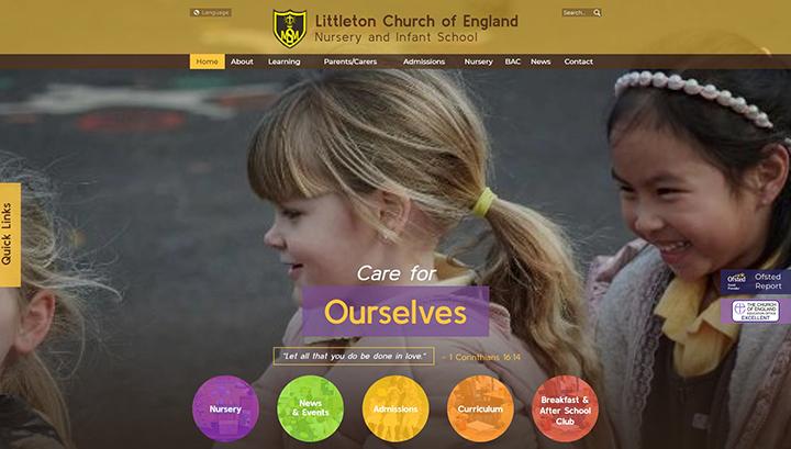 Littleton Nursery and Infant School website design