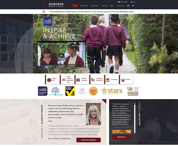 Selborne Primary School Website Design Ealing London
