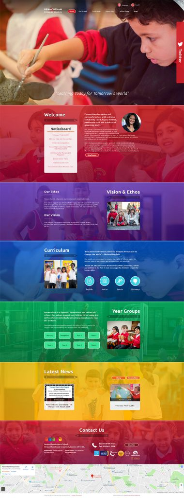Penwortham Primary School Wandsworth London Website Design