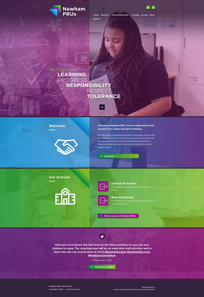Newham PRUs website design London