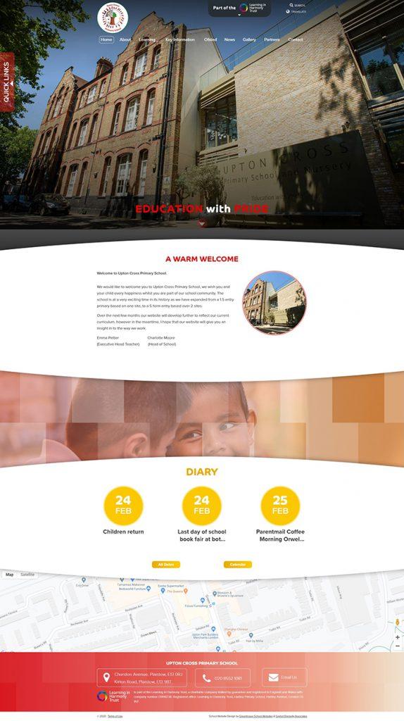 Upton Cross Primary School Website Design Newham London