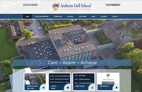Screenshot of the Anthony Gell School website