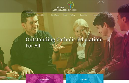 Click to view school website design for All Saints Catholic Academy Trust