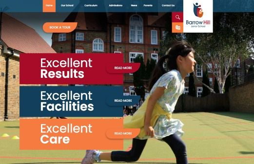 Click to view school website design for Barrow Hill Junior School