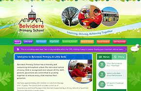 Screenshot of the Belvidere Primary School website