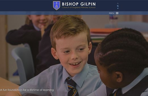 Click to view school website design for Bishop Gilpin Church of England Primary School