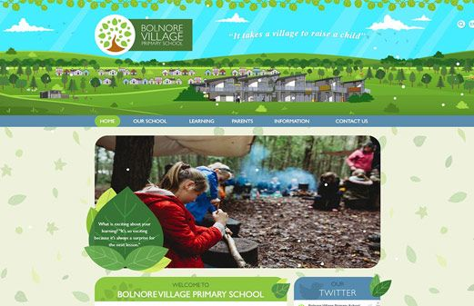Screenshot of the Bolnore Village Primary School website