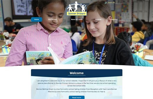 Screenshot of the Bonner Primary website