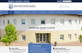 Screenshot of the Brampton Manor Academy website