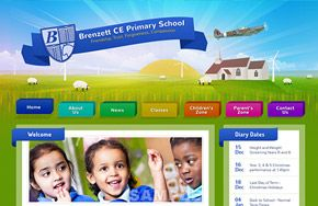 Screenshot of the Brenzett CE Primary School website
