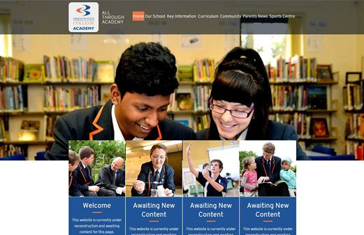 Click to view school website design for Bridgwater College Academy