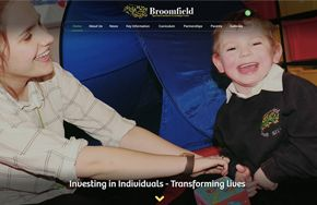 Screenshot of the Broomfield SILC website