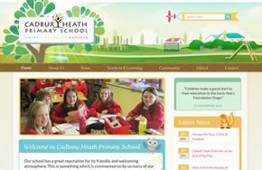 Screenshot of the Cadbury Heath Primary School website