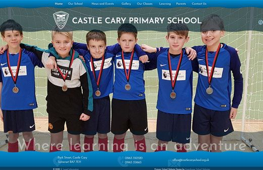Screenshot of the Castle Cary Community Primary School website